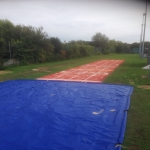 Netball Court Construction in Dundyvan 2