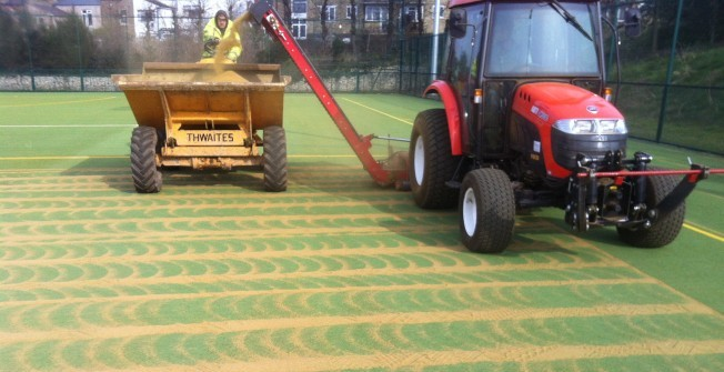 MUGA Pitch Maintenance in Abercegir
