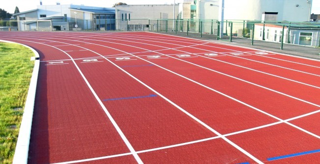 Rubber Athletics Track in Abergwili